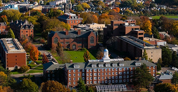 Tufts University Medford campus aerial view