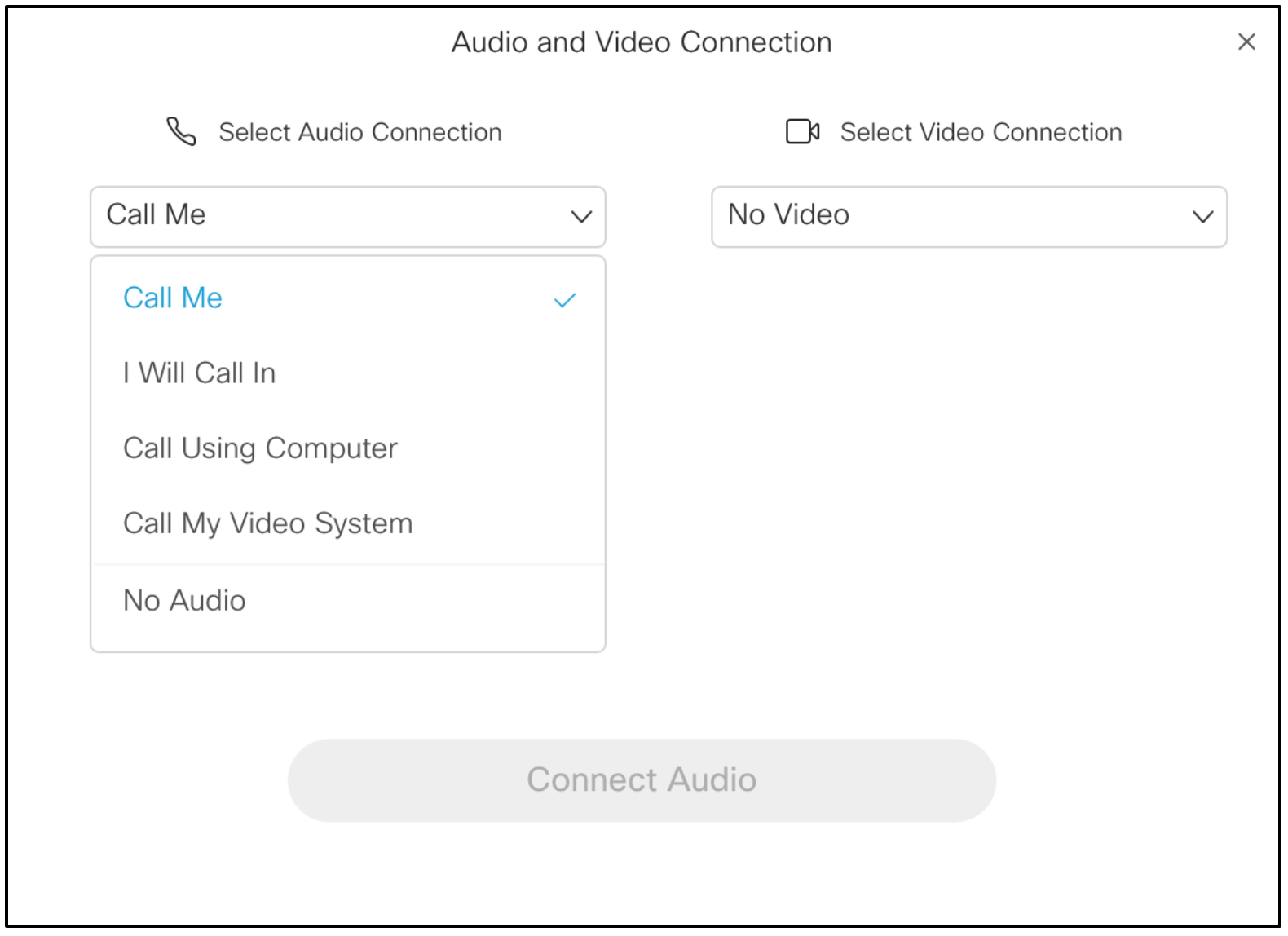 Audio and Video Options | Technology Services