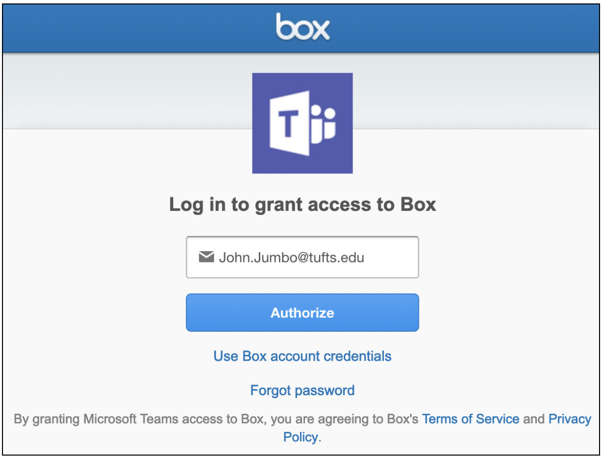 Authorizing Teams to Access Box