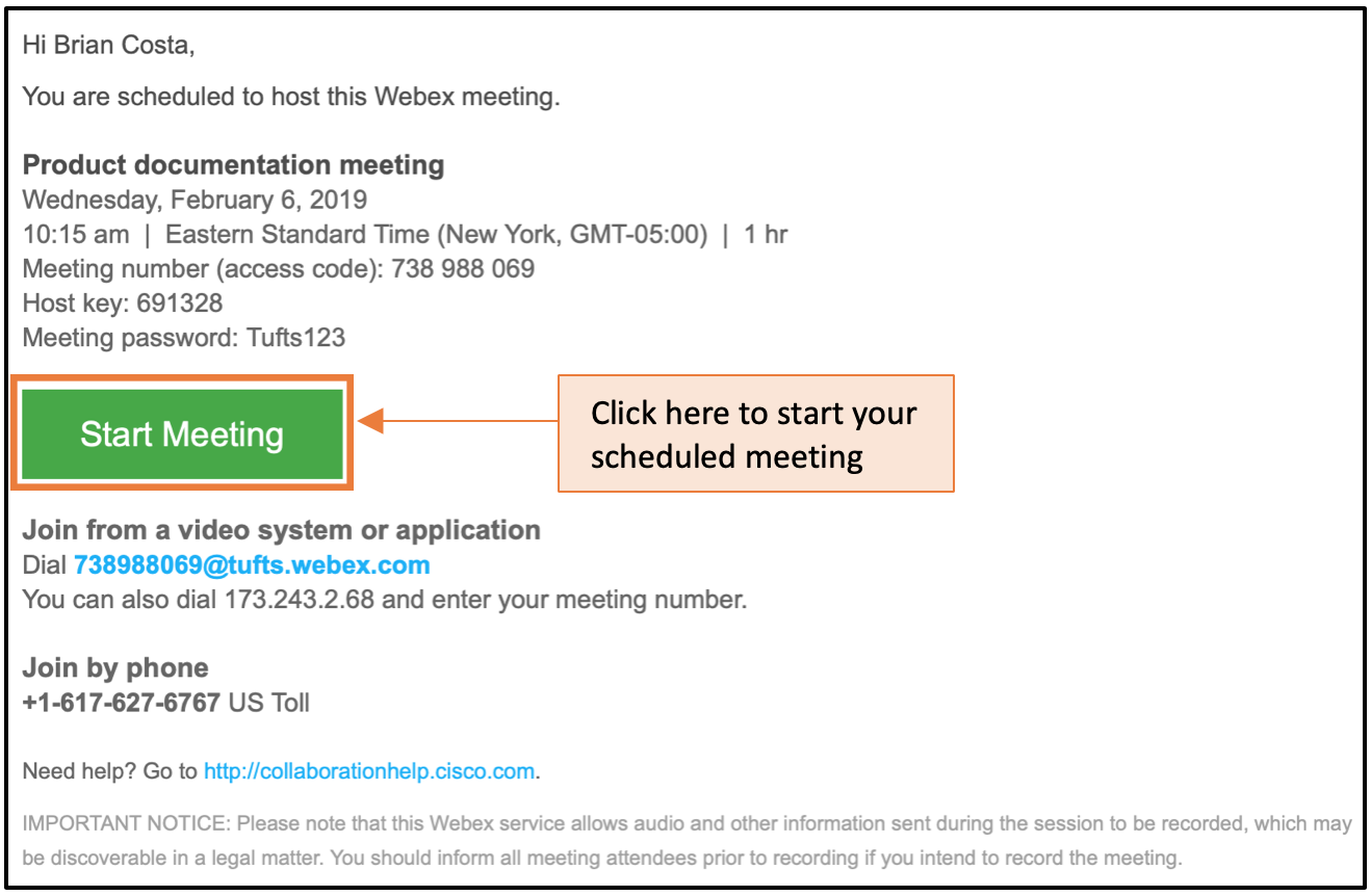 Hosting a Meeting | Technology Services
