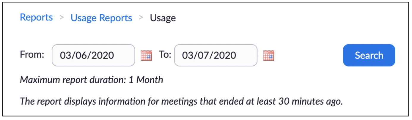 Setting a date range for reports