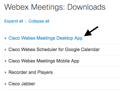Download the WebEx Desktop App | Technology Services