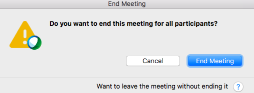 End/Leave a WebEx meeting | Technology Services
