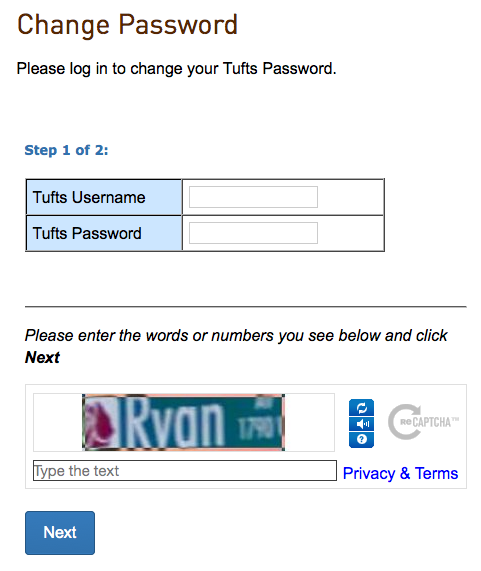 Tools Change Password