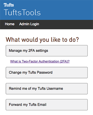 TuftsTools Login