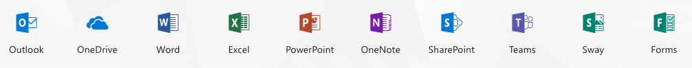 Office365 Application icons (word, excel, etc.)